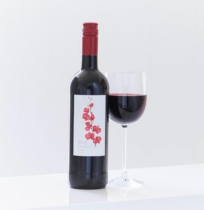 Red Orchid Merlot Wine: Booker Flowers and Gifts