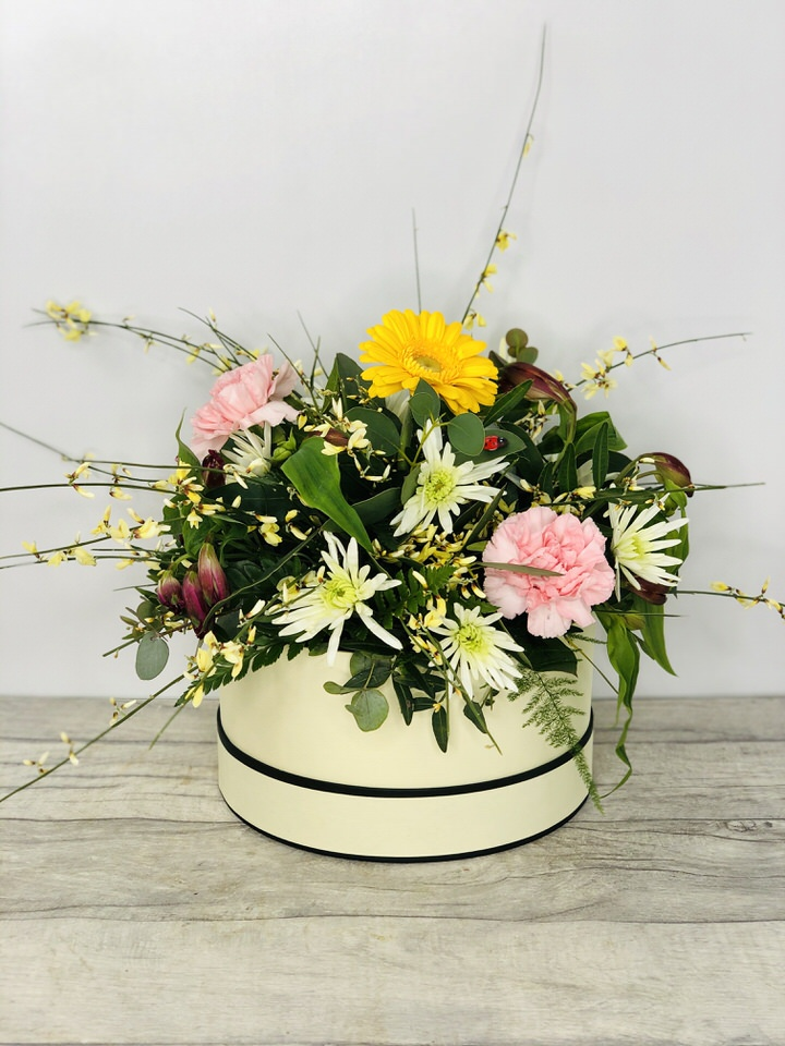 Refreshing Spring Hat Box: Booker Flowers and Gifts