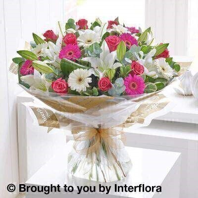 Rose  Lily and Germini Hand Tied - Extra Large: Booker Flowers and Gifts