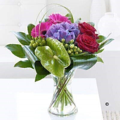 Rose Hydrangea and Gerbera Vase: Booker Flowers and Gifts