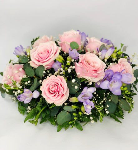 Classic Pink and Lilac Posy | Funeral Flowers