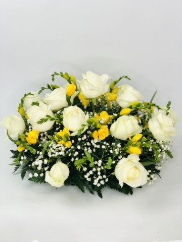 Classic Yellow and White Posy | Funeral Flowers