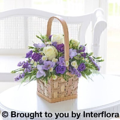 Scented Lilac and White Basket - Large: Booker Flowers and Gifts