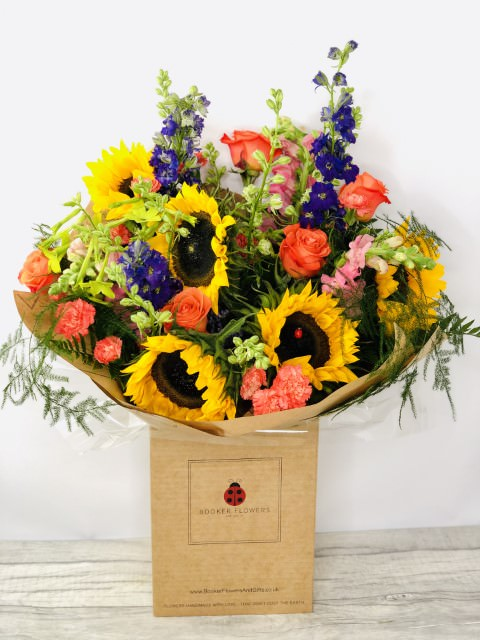 Sensational Sunflower Festival Fun Bouquet: Booker Flowers and Gifts