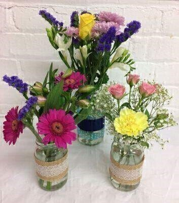 Flower in Jars Table Flowers