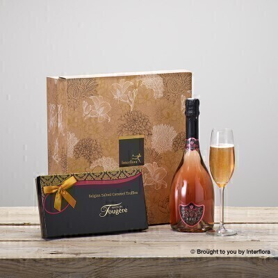 Sparkling Rose and Salted Caramels Gift Set: Booker Flowers and Gifts