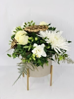 Sparkling Snowflake Winter Arrangement: Booker Flowers and Gifts