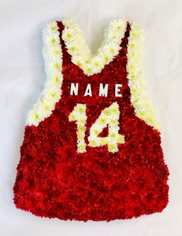 Sports Vest Funeral Tribute: Booker Flowers and Gifts