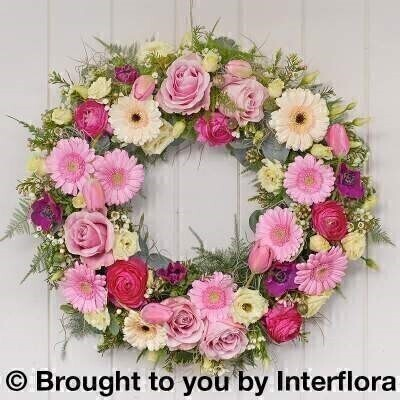 Spring Blooming Beauty Wreath: Booker Flowers and Gifts