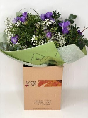 Spring Freesia Hand Tied Bouquet: Booker Flowers and Gifts