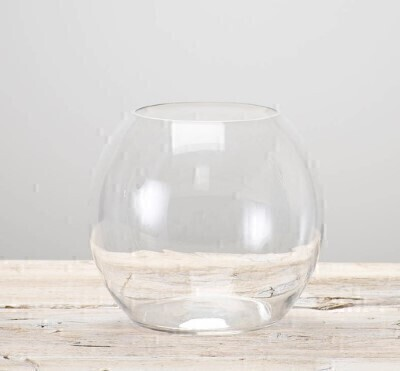 Clear Globe Vase