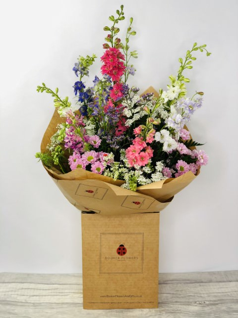 Summer Larkspur Bouquet of Flowers: Booker Flowers and Gifts