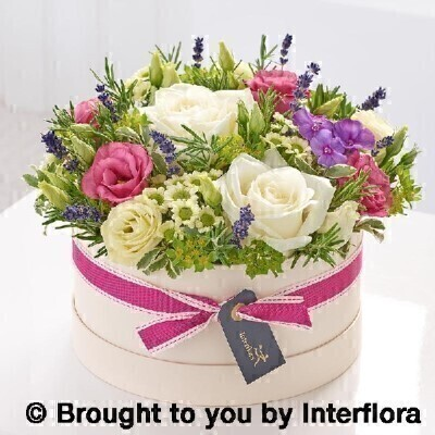 Summer florals hatbox: Booker Flowers and Gifts