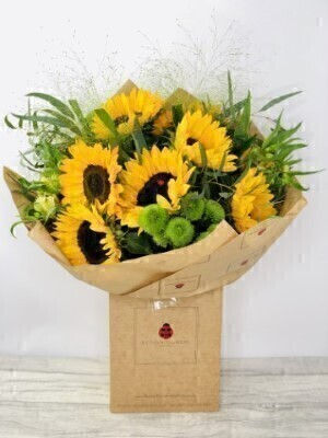 Sunny Sunflower Bouquet of Flowers: Booker Flowers and Gifts