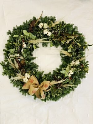 Textured Elements Christmas Wreath XXXL: Booker Flowers and Gifts