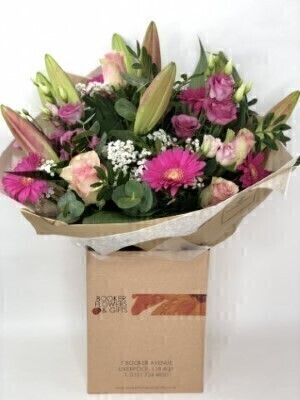 Thank You Pink Radiance Hand Tied - X LARGE: Booker Flowers and Gifts