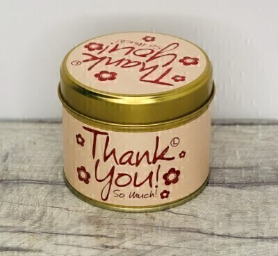 Thank You Scented Candle By Lily Flame: Booker Flowers and Gifts
