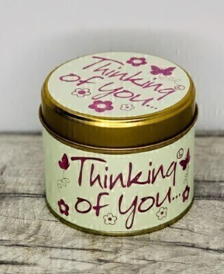 Thinking Of You Scented Candle By Lily Flame: Booker Flowers and Gifts