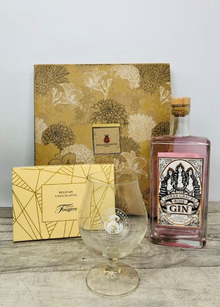 Three Graces Rose Gin Gift Hamper: Booker Flowers and Gifts