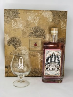 Three Graces Rose Pink Gin with Glass Made in Liverpool: Booker Flowers and Gifts