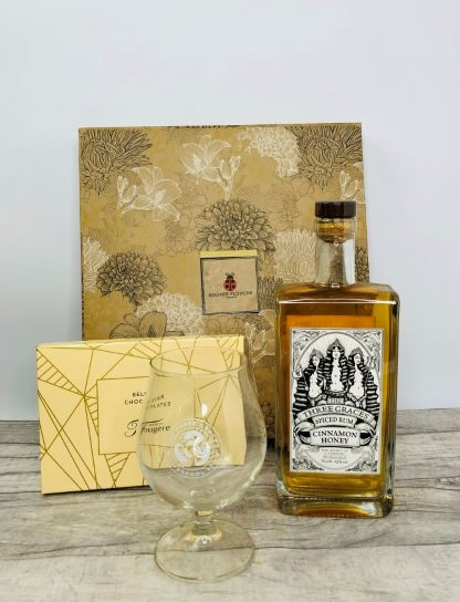 Three Graces Spiced Rum Gift Hamper: Booker Flowers and Gifts