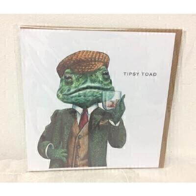 Tipsy Toad Greeting Card by Rebecca Christian: Booker Flowers and Gifts