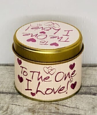 To The One I Love Scented Candle By Lily Flame: Booker Flowers and Gifts
