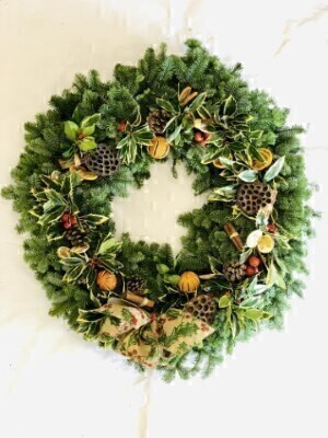 Traditional Christmas Holly Wreath XXL: Booker Flowers and Gifts