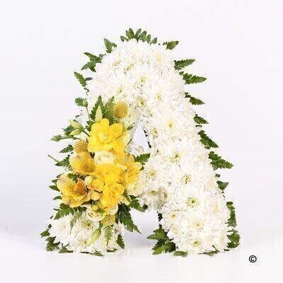 White Funeral Letter | Funeral Flowers