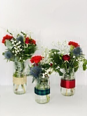 Flowers in Jars - Table Flowers