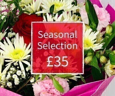 Valentines Florist Choice 35 - Seasonal Handtied: Booker Flowers and Gifts