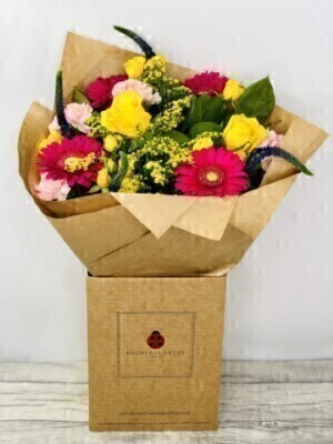 Vibrant Fizz Hand-tied Bouquet Large: Booker Flowers and Gifts