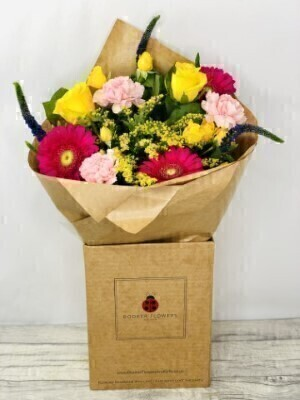 Vibrant Fizz Hand-tied Bouquet: Booker Flowers and Gifts