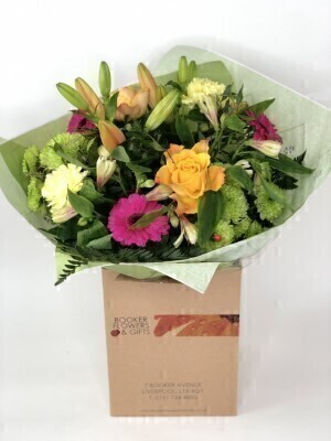 Vibrant Hand-tied: Booker Flowers and Gifts