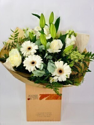 Beautiful White Flowers in Water