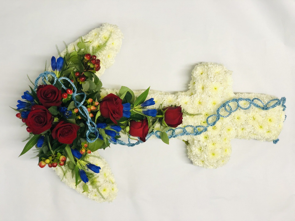 Bespoke Anchor | Funeral Flowers