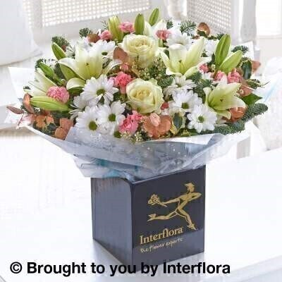 Winter Frost Hand Tied - EXTRA LARGE: Booker Flowers and Gifts