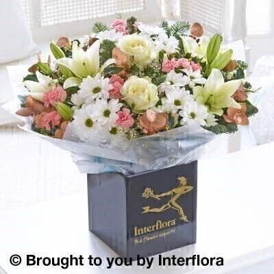 Winter Frost Hand Tied - LARGE: Booker Flowers and Gifts