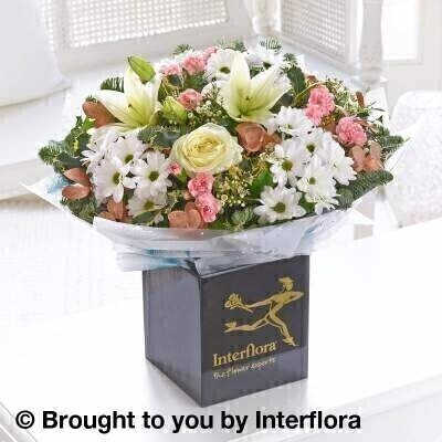 Winter Frost Hand Tied - STANDARD: Booker Flowers and Gifts