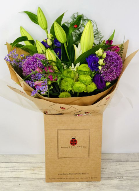 Wishful Wimbledon Lily and Allium Bouquet: Booker Flowers and Gifts