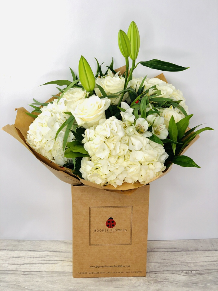 Classic White Bouquet of Flowers - Hand Delivered