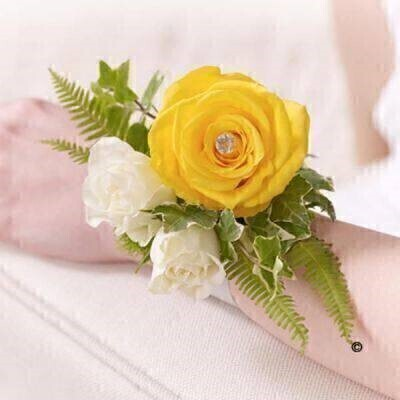 Yellow Rose Wrist Corsage: Booker Flowers and Gifts
