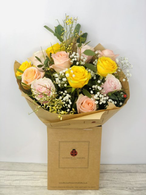 Zesty Rose Spring Handtied: Booker Flowers and Gifts
