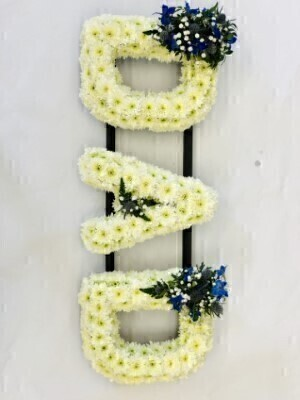 Liverpool Funeral Flowers | Letter Funeral Flowers