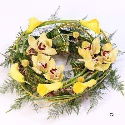 We have a large range of Wreath Funeral Flowers. We offer Flower Delivery Liverpool.  We can provide Funeral Wreaths for you in Liverpool - Merseyside and can organize Funeral flower deliveries for you Nationwide.  Your Funeral Wreath will be handmade - by our professional florists - and delivered to the Funeral Director or Private House if you prefer. Remember Booker Flowers and Gifts for Funeral Flowers delivered in Liverpool - Merseyside and beyond.