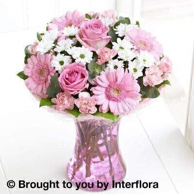 <h1>Pink and white flowersandnbsp;- Flowers in a Vase</h1>