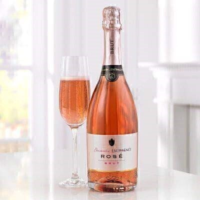 THIS PRODUCT CONTAINS ALCOHOL AND AS SUCH SHOULD ONLY BE BOUGHT FOR SOMEONE OVER THE AGE OF 18 THIS ITEM WILL NEED TO ACCOMPANY A FLOWER ORDER OR BE A COMBINATION OF EXTRA ITEMS TO REACH OUR MINIMUM ORDER OF 25 This lovely sparkling Rose Brut is a pretty Salmon colour with fine bubbles and a delicate aroma of fresh strawberries and raspberries. Perfect served as an Aperitif with salads or with deserts red fruits and Chocolate.