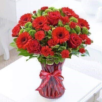 <h1>Red Flowersandnbsp;-andnbsp;Flowers in a Vase</h1>