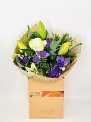 Flower Delivery Liverpool Iced Violet Purple Hand Tied