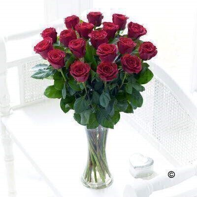 <h1>Red Roses - Flower in Vase</h1>
